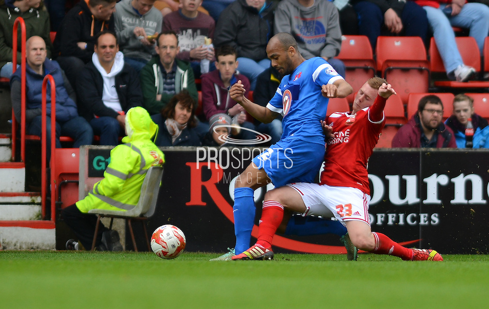 Swindon Town's Jack Barthram during the Sky Bet League 1 match between Swindon Town and Leyton Orient at the County Ground, Swindon, England on 3 May 2015. Photo by Mark Davies.