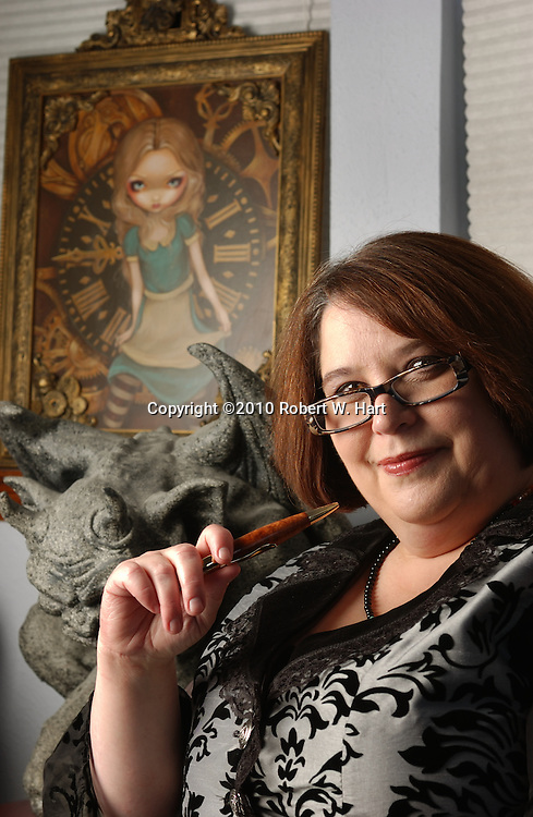 Author Roxanne Conrad in her Fort Worth writing studio on Jan. 02, 2011.