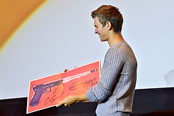 August 19, 2017 - Tokio, Tokio, Japan - Ansel Elgort bei der Präsentation des Kinofilms 'Baby Driver' im Shinjuku Wald 9. Tokio, 19.08.2017 (Credit Image: © Future-Image via ZUMA Press)