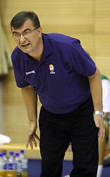 Coach of Slovenian team Zeljko Ciglar at basketball qualification match of women division B  between National teams of Slovenia and Netherlands, on August 27, 2008, in Vitranc Hall, Kranjska Gora. Win of NED 83:81. (Photo by Vid Ponikvar / Sportida)