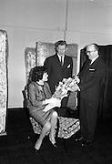 Maisie McDaniel, singer, at Eamon Andrews Studios..18.04.1963