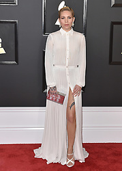 Celebrities arrive on the red carpet for the 59th Grammy Awards held at the Staples Centre in downtown Los Angeles, California. 12 Feb 2017 Pictured: Skylar Grey. Photo credit: Bauergriffin.com / MEGA TheMegaAgency.com +1 888 505 6342