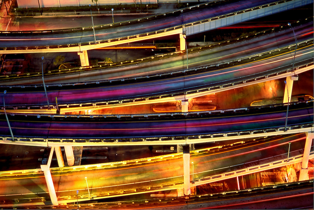 Miami highways, overpass, Miami, Florida