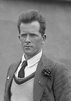 H896<br /> Aonach Tailteann Athletics - Croke Park. Portrait of same man as in H913. 1928. J.J. O'Reilly marathon runner. First Irish finisher in the marathon. (Part of the Independent Newspapers Ireland/NLI Collection)