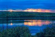 Storm over Pelley River<br /> <br /> Pelley Crossing<br /> Yukon<br /> Canada