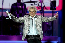 """Embargoed to 0001 Monday September 17 File photo dated 23/06/16 of Rod Stewart, who has said he was """"born to be a show-off"""" and could not have been anything but a rock star."""
