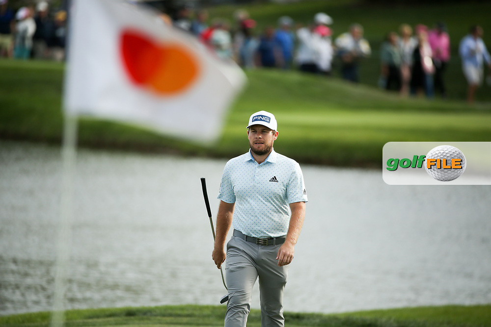 Tyrrell Hatton (ENG) on the 17th during the final round of the Arnold Palmer Invitational presented by Mastercard, Bay Hill, Orlando, Florida, USA. 08/03/2020.<br /> Picture: Golffile | Scott Halleran<br /> <br /> <br /> All photo usage must carry mandatory copyright credit (© Golffile | Scott Halleran)