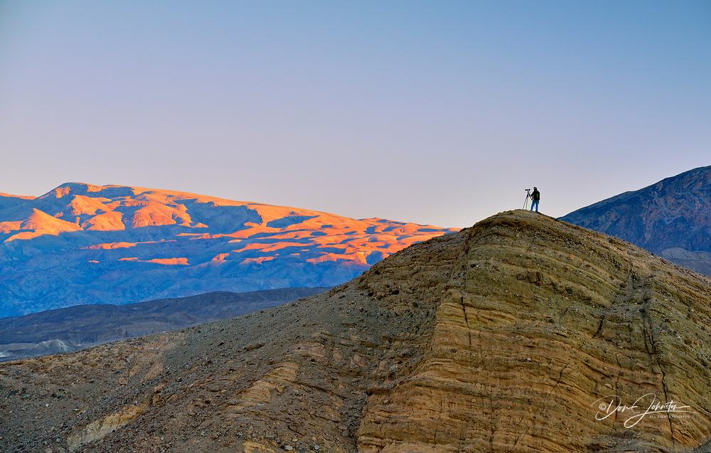 Photographing at Zabriskie Point, Death Valley National Park, California, USA