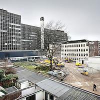 Nederland, Amsterdam , 23 februari 2010..Roeterseiland met op de achtergrond 1 van de bebouwen van de Uva..Foto:Jean-Pierre Jans
