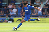 AFC Wimbledon defender Will Nightingale (5) passing the ball during the Pre-Season Friendly match between AFC Wimbledon and Queens Park Rangers at the Cherry Red Records Stadium, Kingston, England on 14 July 2018. Picture by Matthew Redman.