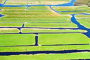 Nederland, Noord-Holland, Landsmeer, 20-04-2015; Ilperveld. Het veenweidegebied is eigendom is van de stichting Landschap Noord-Holland, Natura 2000 gebied.<br /> Nature reserve north of Amsterdam.<br /> luchtfoto (toeslag op standard tarieven);<br /> aerial photo (additional fee required);<br /> copyright foto/photo Siebe Swart