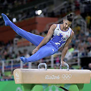 Gymnastics - Olympics: Day 9   Louis Smith #136 of Great Britain performs his routine in the Men's Pommel Horse Final which won him the silver medal at the Rio Olympic Arena on August 14, 2016 in Rio de Janeiro, Brazil. (Photo by Tim Clayton/Corbis via Getty Images)
