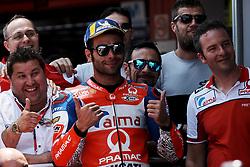 June 16, 2018 - Barcelona, Catalonia, Spain - Danilo Petrucci (9) of Italy and Alma Pramac Racing Ducati during the qualifying of the Gran Premi Monster Energy de Catalunya, Circuit of Catalunya, Montmelo, Spain.On 16 june of 2018. (Credit Image: © Jose Breton/NurPhoto via ZUMA Press)