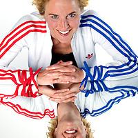 Nederland, Uitgeest, 07-04-2011.<br /> Daphne Koster, voetbalster van AZ en het nederlands elftal.<br /> Foto : Klaas Jan van der Weij