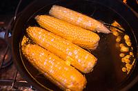 Corn cooked on camp stove. Washington