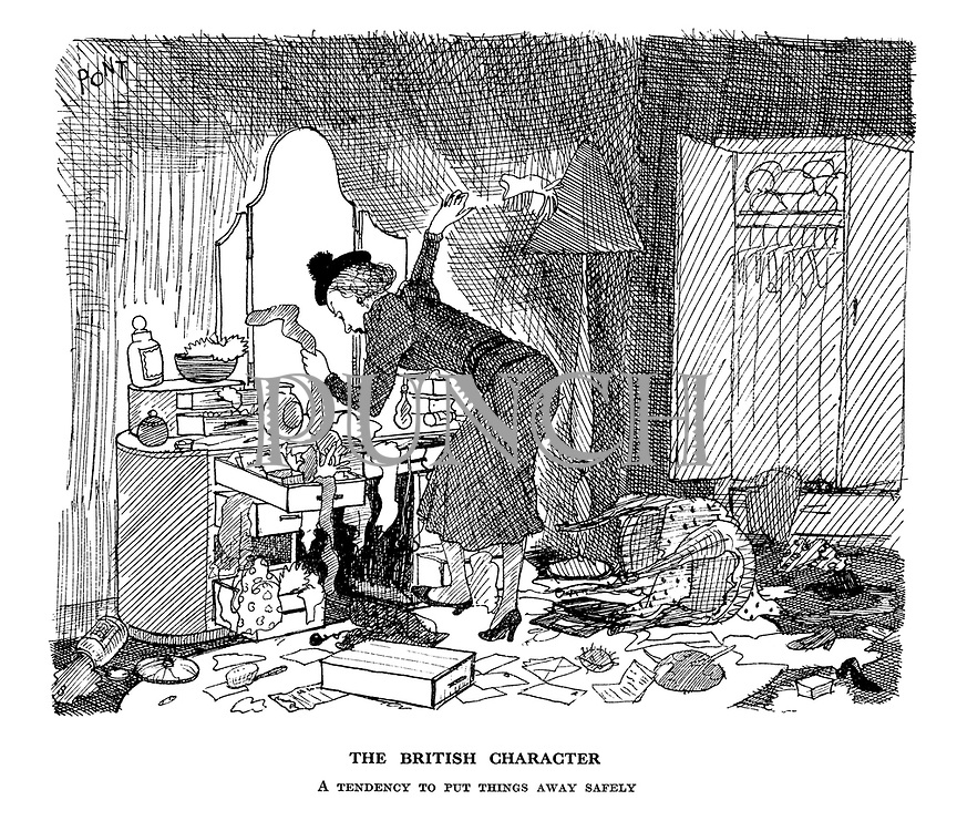 The British Character. A tendency to put things away safely