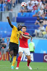 July 14, 2018 - St. Petersburg, Russia - July 14, 2018, St. Petersburg, FIFA World Cup 2018, Football match for the third place in the World Cup. Football match of Belgium - England at the stadium of St. Petersburg. Player of the national team Romelu Lukaku  (Credit Image: © Russian Look via ZUMA Wire)