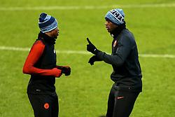 Yaya Toure of Manchester City talks with Kelechi Iheanacho - Mandatory by-line: Matt McNulty/JMP - 20/02/2017 - FOOTBALL - City Football Academy - Manchester, England - Manchester City v AS Monaco - UEFA Champions League Round of 16 First Leg
