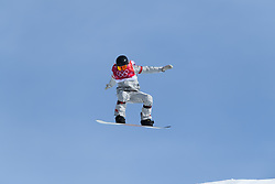 February 19, 2018 - Pyeongchang, SOUTH KOREA - 180219 Jessika Jenson of USA competes in the Women's Big Air Qualification during day ten of the 2018 Winter Olympics on February 19, 2018 in Pyeongchang..Photo: Carl Sandin / BILDBYRÃ…N / kod CS / 57999_306 (Credit Image: © Carl Sandin/Bildbyran via ZUMA Press)