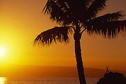 Sunset, Kaanapali, Maui, Hawaii, USA<br />