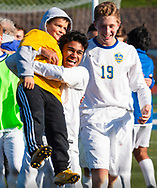 Lansing defeated Geneseo 3-0 to win the NYSPHSAA Class C boys' soccer championship at Faller Field in Middletown on Nov. 11, 2018. The state title was the second straight for Lansing.
