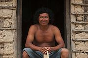 James Fidel. Local farmer partly responsible for Sun Parakeet conservation. <br /> MODEL RELEASE GYA#3<br /> Karasabai<br /> Rupununi<br /> GUYANA<br /> South America