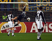 Photo. Javier Garcia<br />11/03/2003 Inter Milan v Newcastle, Champions League Second Phase, San Siro<br />Nol Solano's fierce shot hits the underside of the bar but fails to go in