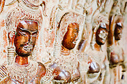 19 MARCH 2006 - SIEM REAP, SIEM REAP, CAMBODIA: Aspara figures on a wall in the Angkor Wat complex near Siem Reap, Cambodia. Cambodian authorities estimate that more than one million tourists will visit Angkor Wat in 2006, making it the leading tourist attraction in Cambodia by a large margin. Aspara are the celestial dancers who serve and protect the Gods. Aspara is also a popular form of Cambodian classical dance.   Photo by Jack Kurtz / ZUMA Press