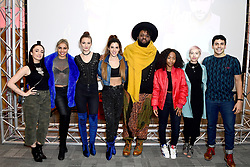 (left-right) RAYA, trio from Goldstone, Jaz Ellington, Asanda, SuRie and Liam Tamne during Eurovision: You Decide - Meet The Artists, an introduction to this year's UK hopefuls, at BBC, New Broadcasting House in London.
