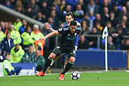Jake Livermore of West Bromwich Albion shields the ball from Leighton Baines of Everton. Premier league match, Everton v West Bromwich Albion at Goodison Park in Liverpool, Merseyside on Saturday 11th March 2017.<br /> pic by Chris Stading, Andrew Orchard sports photography.