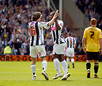 Photo: Leigh Quinnell.<br /> West Bromwich Albion v Barnsley. Coca Cola Championship. 06/05/2007. West Broms Robert Koren congratulates Nathan Ellington on his goal.