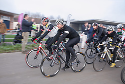 © London News Pictures. 16/01/2013. Gravesend, Kent. Sir Chris Hoy in Kent today. 11-time world champion, six-time Olympic champion and a winner of seven Olympic medals Sir Chris Hoy at the Cyclopark this afternoon in Gravesend. Sir Chris was test riding his own new brand of Hoy Bikes. Picture credit should read Manu Palomeque/LNP