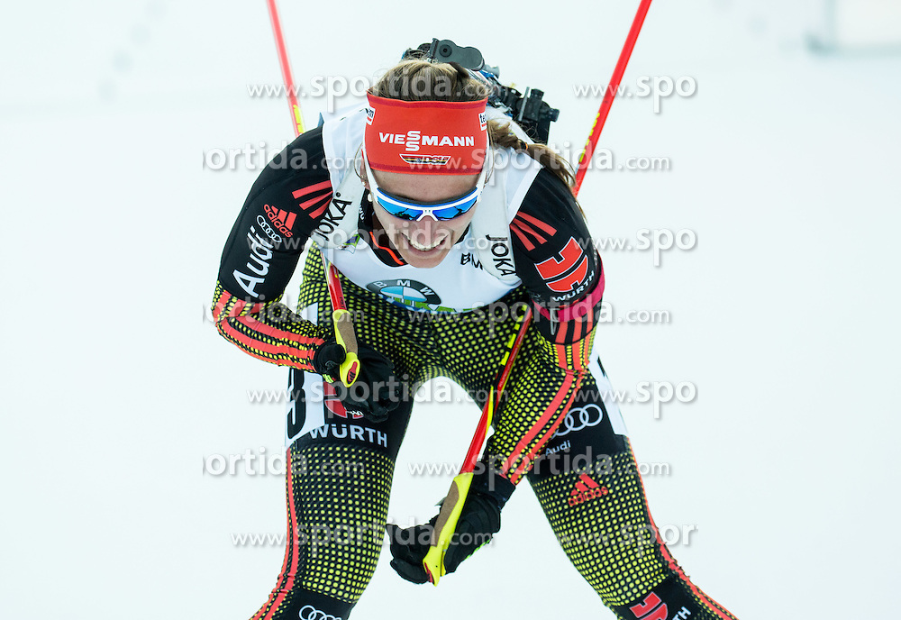 Vanessa Hinz (GER)  during Women 12.5 km Mass Start at day 4 of IBU Biathlon World Cup 2015/16 Pokljuka, on December 20, 2015 in Rudno polje, Pokljuka, Slovenia. Photo by Vid Ponikvar / Sportida