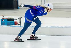 10-12-2016 NED: ISU World Cup Speed Skating, Heerenveen<br /> Massasprint vrouwen Mia Manganello USA #4