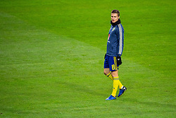 November 20, 2018 - Stockholm, Sweden - 181120 Mattias Svanberg of Sweden during warm up ahead of the Nations League football match between Sweden and Russia on November 20, 2018 in Stockholm..Photo: Petter Arvidson / BILDBYRN / kod PA / 87811 (Credit Image: © Petter Arvidson/Bildbyran via ZUMA Press)