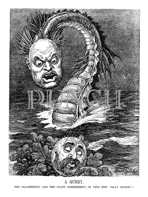 """A Query. The sea-serpent and the giant gooseberry - is this the """"silly season""""?"""