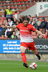 Leyton Orient's Romain Vincelot in action - Photo mandatory by-line: Mitchell Gunn/JMP - Tel: Mobile: 07966 386802 12/10/2013 - SPORT - FOOTBALL - Brisbane Road - Leyton - Leyton Orient V MK Dons - League One