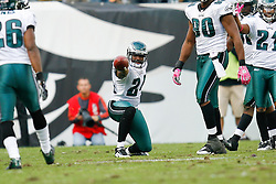 Philadelphia Eagles cornerback Sheldon Brown #24 reacts after a play during the NFL game between the Tampa Bay Buccaneers and the Philadelphia Eagles on October 11th 2009. The Eagles won 33-14 at Lincoln Financial Field in Philadelphia, Pennsylvania. (Photo ByBrian Garfinkel)