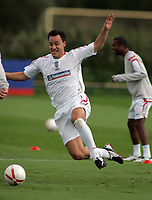 Photo: Paul Thomas.<br /> England Training Session. 01/09/2006.<br /> <br /> John Terry (L) and Ashley Cole.