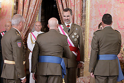 06.06.2015, Palacio Real, Madrid, ESP, Armed Forces Day Ceremony 2015, im Bild King Felipe VI of Spain attends the 2015 Armed Forces Day Ceremony // during the Armed Forces Day Ceremony 2015 at the Palacio Real in Madrid, Spain on 2015/06/06. EXPA Pictures © 2015, PhotoCredit: EXPA/ Alterphotos/ Pool<br /> <br /> *****ATTENTION - OUT of ESP, SUI*****