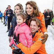 NLD/Biddinghuizen/20160306 - Hollandse 100 Lymphe & Co 2016, Pr. Floris, partner Pr. Aimee en kinderen Magali Margriet Eleonoor en Eliane