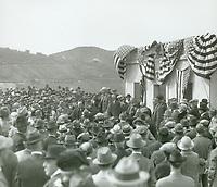 3/17/1925 Dedication of the Lake Hollywood and Dam