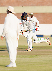 Sri Lanka batsman Upul Tharanga  in action during the 100th test match played by Zimbabwe in a match with Sri Lanka at Harare Sports Club 29 October 2016.