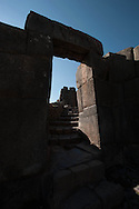 Archaeological site of Sacsayhuaman , that dominate the city from high