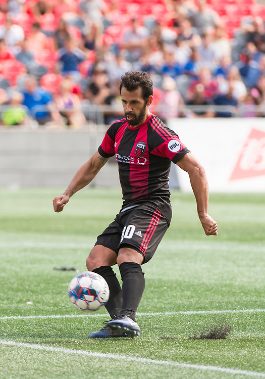 OTTAWA, ON - AUGUST 18: USL match between the Ottawa Fury FC and Indy Eleven at TD Place Stadium in Ottawa, ON. Canada on August 18, 2018.<br /> <br /> PHOTO: Steve Kingsman/Freestyle Photography for Ottawa Fury FC