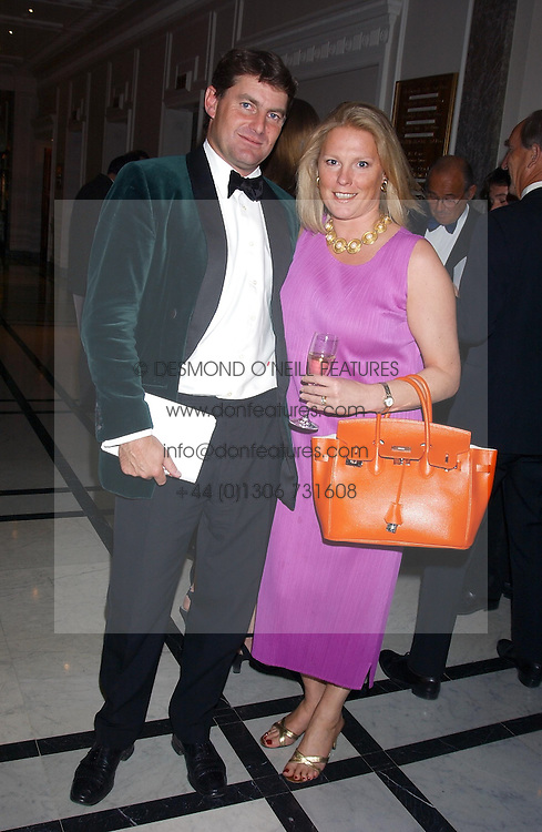 CHARLIE BROOKS and VISCOUNTESS GORMANSTON at the annual Ascot charity auction dinner this year in aid of The Princes Trust held at the Hyatt Churchill Hotel, Portman Square, London on 21st September 2004.<br /><br />NON EXCLUSIVE - WORLD RIGHTS