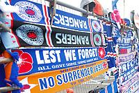 Football - 2019 / 2020 Ladbrokes Scottish Premiership - Rangers vs. Celtic<br /> <br /> Scarves on sale, at Ibrox Stadium.<br /> <br /> COLORSPORT/BRUCE WHITE
