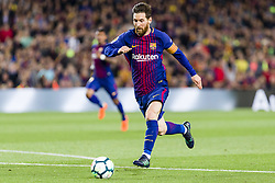 May 6, 2018 - Barcelona, Catalonia, Spain - FC Barcelona forward Lionel Messi (10) during the match between FC Barcelona v Real Madrid, for the round 36 of the Liga Santander, played at Camp nou  on 6th May 2018 in Barcelona, Spain. (Credit Image: © Urbanandsport/NurPhoto via ZUMA Press)