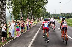 Peloton in Valburga during Stage 2 of 24th Tour of Slovenia 2017 / Tour de Slovenie from Ljubljana to Ljubljana (169,9 km) cycling race on June 16, 2017 in Slovenia. Photo by Vid Ponikvar / Sportida