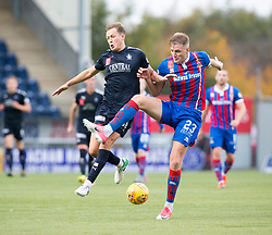 Falkirk's James Craigen and Inverness Caledonian Thistle's Coll Donaldson. Falkirk 0 v 0 Inverness Caledonian Thistle, Scottish Championship game played 14/10/2017 at The Falkirk Stadium.
